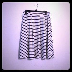 Elle stripes ponte knit a-line skirt M